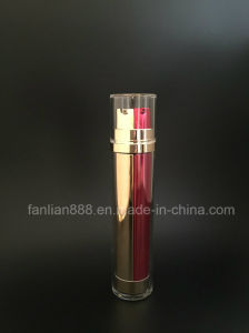 Acrylic Double-Barrelled Lotion Bottles for Cosmetic Packaging pictures & photos