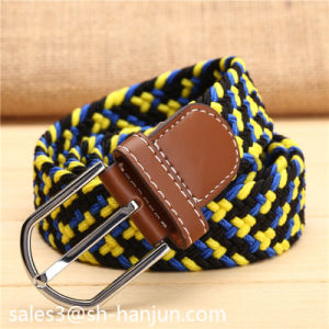 New Arrival Laser Logo Buckle Unisex Casual Fabric Elastic Belt