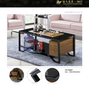 Coffee Glass Tabletempered Glass Coffee Table (YF-170065T)