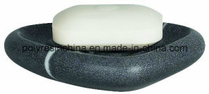 Spirella Etna Stone Soap Dish of Polyresin Black White Stone Effect pictures & photos
