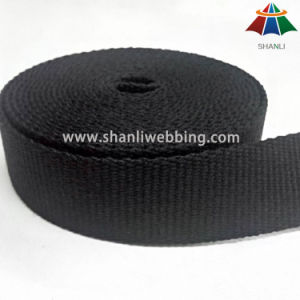 3cm Black Flat Pure Cotton Webbing for Yogga Strap or Baby Carrier Strap pictures & photos