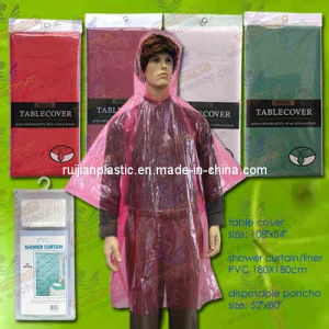 High Quality Disposable PE Rain Coat pictures & photos