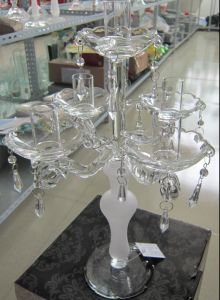 Frosting Glass Candle Holder with Five Posts... pictures & photos