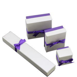 High Quality Elegant Jewelry Box with Purple Colour Ribbon (YY-J0001) pictures & photos