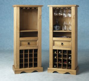 Wood Color Classic Wine Cabinet Wine Display