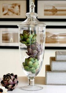 Clear Glass Candy Jar, Storage Jar