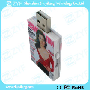 Plastic Book Shape USB Flash Drive with Logo (ZYF1816)