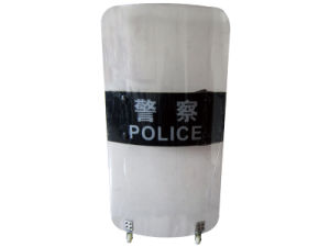 Transparent Police/Army Anti-Riot Shields with Wheel (FBP-BL-SD03F) pictures & photos