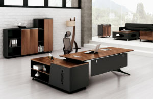 China Walnut Office Furniture MFC Modern LeftRight Return Manager