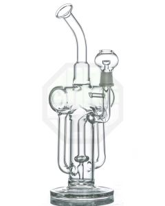 Double Recycler Showerhead Perc Borosilicate Smoking Pipe pictures & photos