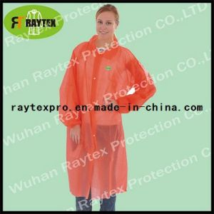 Disposable Nonwoven/Plastic PP Lab Coat