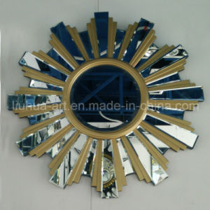 Golden Sunflower Shape Modern Wall Mirror for Home Decorative (LH-000536) pictures & photos