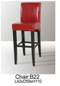 PU Wood Bar Stools with Coffee High Bar Stools