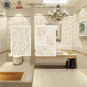China Polished Beige 3d Inkjet Glazed Bathroom Ceramic Floor Tiles