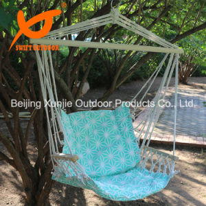 Portable High Strength Cotton Outdoor Garden Indoor Swift Patio Quilted Hammock Chair with Armrest
