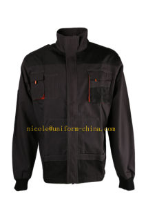Cheap Canvas Grey Black Man Work Wear Jacket for Polan Market pictures & photos