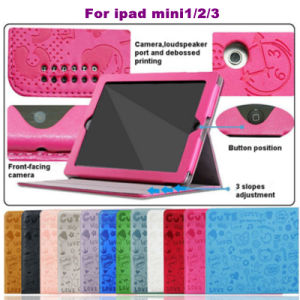 Wholesale iPad Accessories Sweet Cartoon Leather Case for Mini&Air