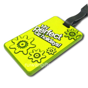 Silicone Luggage Tag for Travel Souvenir Gift with Logo (LT002) pictures & photos