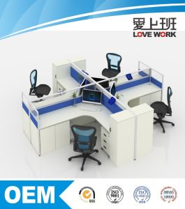 4 Persons Customized Modern Office Workstation