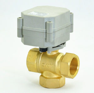 High Quality 3/4′′ 3 Way Electric Motorized Brass Ball Valve for Automatic Watering (T20-B3-A) pictures & photos