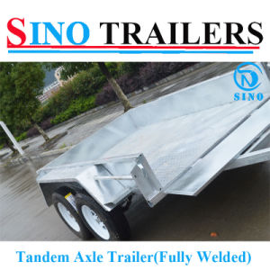 Economic 10X5FT Hot Dipped Galvaznied Heavy Duty Fully Welded Tandem Trailer