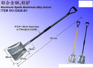 Aluminum Snow Shovel with Long Handle pictures & photos