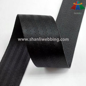4cm Black Polyester Seat Belt Webbing pictures & photos