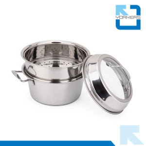Double-Deck Stainless Steel Kitchen Utensils Steam Pot pictures & photos