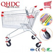 Best Selling High Quantity Supermarket Metal Grocery Shopping Buggy Cart Shopping Trolley with Seat