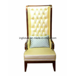 Hotel Lobby Luxury Throne Chair with High Back