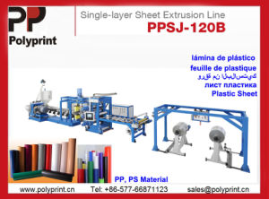 PS Material Plastic Sheet Extruder pictures & photos