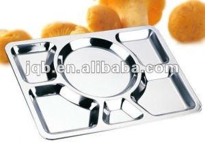 Life Time Warranty Stainless Steel Food Snack Mess Tray