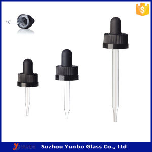 Child Resistant Glass Dropper with Scaled Pipette FDA Certificated