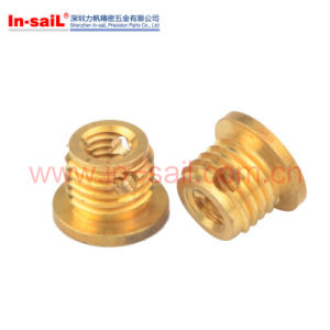 L3071 M8X10.5mm Brass Self Tapping Flanged Threaded Inserts Manufacturer pictures & photos