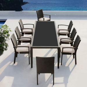 China 1 Table 8 Seater Collapsible Outdoor Furniture Pe Rattan - Dining-room-chair-exterior