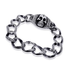 Punk Skull Men Bracelets Star Fashion Titanium Steel Jewelry