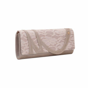 Champagne Floral Front Clutch Bag (MBNO041142) pictures & photos