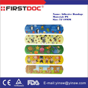 Medical Supply Customized 72X19mm PE Children Plaster Cartoon Adhesive Bandage pictures & photos