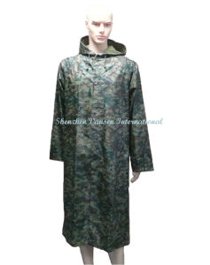 Waterproof Military Camouflage Long Raincoat pictures & photos