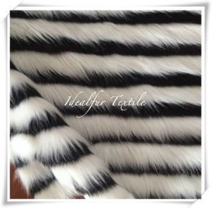 Two Color Jacquard Faux Fur with High Pile pictures & photos