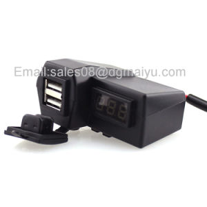 Dual Functional Motorcyle Handbar USB Charger Charging Products & Motorcycle LED Voltmeter Display pictures & photos
