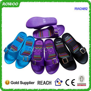 Cheap Low Price Soft Indoor Flat Bathroom Slippers (RW24812B)