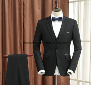 Fashion Office Black Suits/Tuxedo Pant Full Wool pictures & photos
