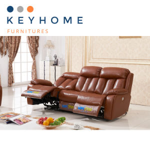 Promotional Price Functional Genuine Leather Recliner Sofa Set
