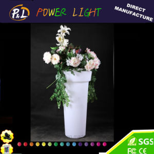 Illuminated Garden Furniture Plastic Lighted LED Flowerpot pictures & photos