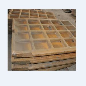 Sand Casting High Chrome Iron Fixed or Movable Jaw Plate