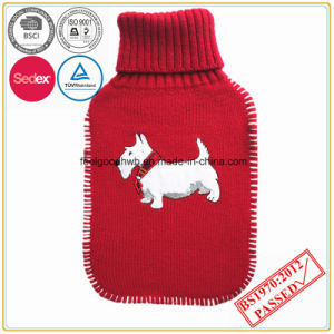 BS Quality Hot Water Bottle with Embroidery Knitted Cover pictures & photos