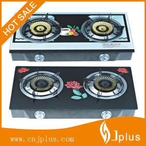 2 Burners Tempered Glass Top 100#Cast Iron Burner Gas Cooker/Gas Stove Jp-Gcg278 pictures & photos
