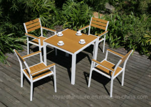 China New Modern Patio Restaurant Dining Table Chairs Aluminum - Aluminum table and chairs for restaurant