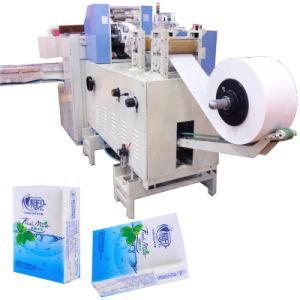 Pocket Tissue Paper Packaging Machine with Embossing Folding pictures & photos